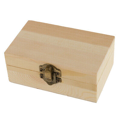 $9.46 • Buy Rectangle Unfinished Wooden Jewelry Gift Box Handmade DIY Craft