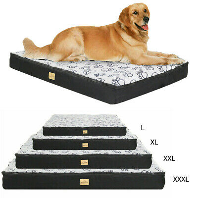 Waterproof Jumbo XL Pet Bed For Large Dog Orthopedic Soft Mattress Anti-Skidding • 38.99£