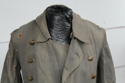 WW2 German Tropical Luftwaffe Officer Rubberized Coat. Nice Well Used • 299£