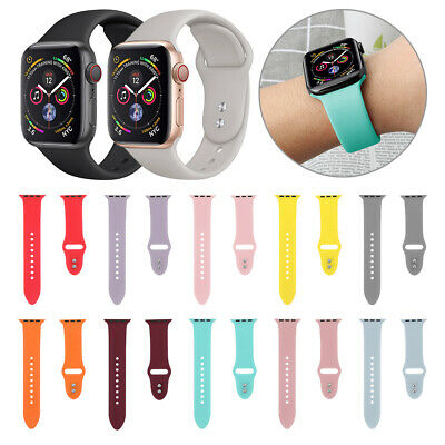 $ CDN2.88 • Buy Sport Silicone Watch Band Strap For Apple Watch Series 4 3 2 1 40mm 44mm IWatch
