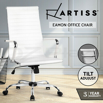 AU139.95 • Buy Artiss Gaming Office Chair PU Leather Executive Computer Chairs Work Seat White