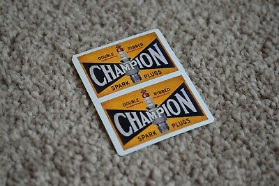 £1.98 • Buy CHAMPION Spark Plugs Classic Race Car Stickers Decals Racing Bike F1 50mm