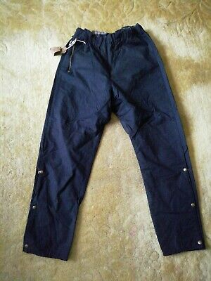Black Belstaff Waxed Cotton Motorcycle Vintage Trousers 28  Waist • 75£