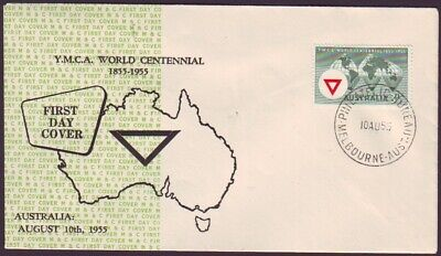 AU40 • Buy 1955 Ymca On Mappin & Curran  Security Cachet  First Day Cover  Unaddressed