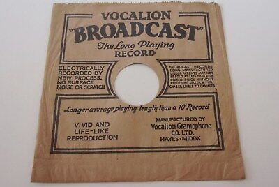 £5.95 • Buy VINTAGE VOCALION BROADCAST  9 Inch SLEEVE For78 RPM RECORDS 1930's CLEAN EXAMPLE