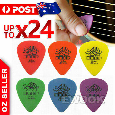 AU6.95 • Buy 6X / 12X Jim Dunlop Tortex Standard Plectrums Mixed Pro Gauges Guitar Picks AU