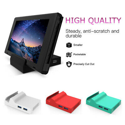 $5.69 • Buy 4 Colors For Nintendo Switch Portable Replacement Dock Base Stand With Screws US