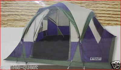 AU116.75 • Buy Lake & Trail DOME Tent - 4 Person 10' X 8' - 5' Height - Easy Setup Blue 🌟NEW🌟
