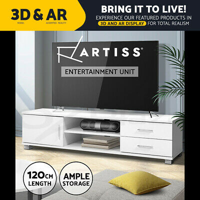AU84.95 • Buy Artiss TV Cabinet Entertainment Unit Stand Storage Drawers Shelf 120cm White