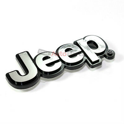 $7.96 • Buy Jeep Chrome ABS 3D Emblem-Badge-Nameplate Letters For Front Hood Or Rear Trunk