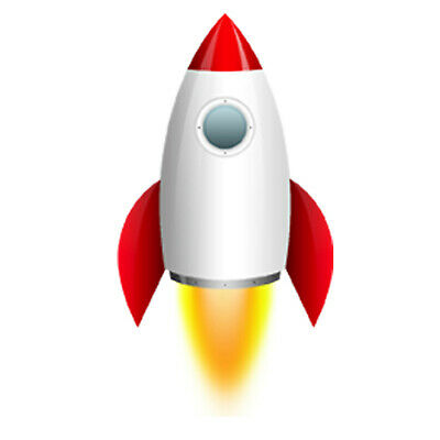 Rocket Space Ship 3D Nursery Childrens Wall Stickers Bedroom Wall Art 4 Sizes • 9.99£
