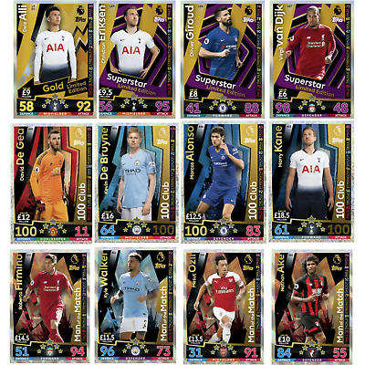 Match Attax 2018/19 18/19 Limited Edition Man Of The Match & 100 Club • 3.99£
