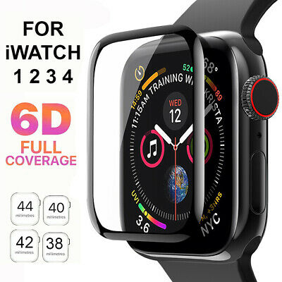 $ CDN2.67 • Buy 6D Tempered Glass Screen Protector For Apple Watch IWatch 4 3 2 1 38/40/42/44 Mm