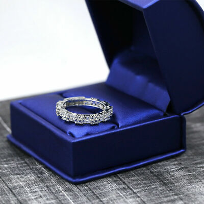 $2800 • Buy 18K White Gold Diamond Eternity Band With 2.21ct. Of Round And Princess Cut Dia
