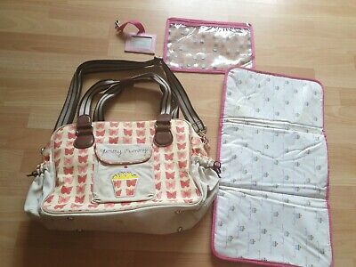 £18.70 • Buy Yummy Mummy Pink Lining Red Bows Nappy/ Changing Bag Plus Extras