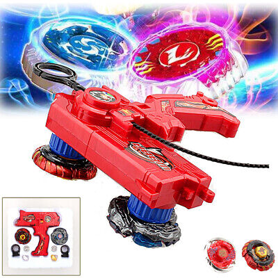 Top Fusion Metal Master Fight Rapidity Rare 4D Beyblade Launcher Set Kid Toy Lot • 7.73$