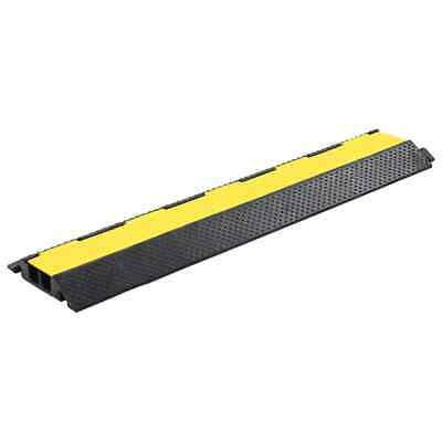 VidaXL Cable Protector Ramp 2 Channels Rubber 101.5cm Conduit Wire Road Cover • 23.99£