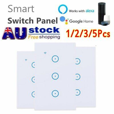 AU27.94 • Buy Smart Home WiFi Touch Light Wall Switch Panel For Alexa Google APP 1/2/3 Gang AU