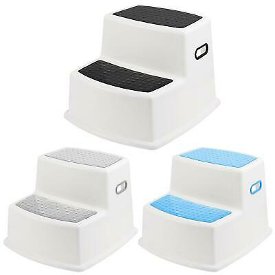 Dual Height Step Stool Non Slip Toilet Potty Training Kids Children Kitchen New • 11.95£