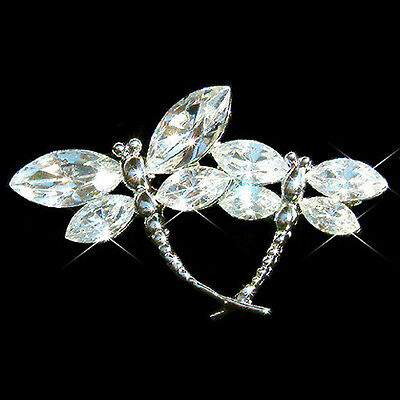 £36.69 • Buy DRAGONFLY Made With Swarovski Crystal Mother Baby Lover Family Bridal Pin Brooch