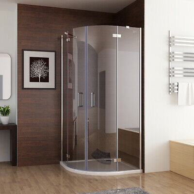 MIQU Quadrant Frameless 6mm Pivot Door Shower Enclosure And Tray Easyclean Glass • 151.99£