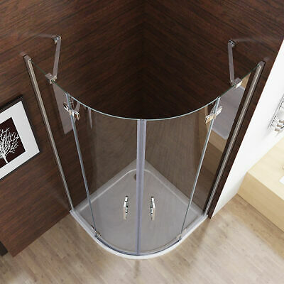900 X 900mm Quadrant Frameless Pivot Door Shower Enclosure Tray Easyclean Glass • 198.99£