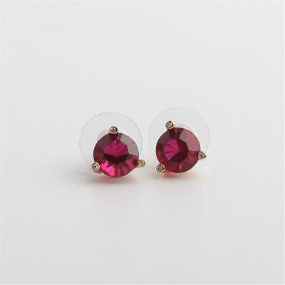 $ CDN31.36 • Buy Kate Spade New York Rise And Shine Stud Earrings Ruby Red Gold Tone