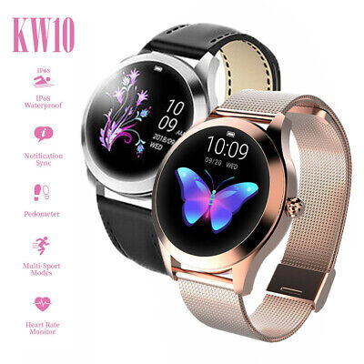 View Details KW10 Smart Watch Lady IP68 Fitness Tracker Heart Rate Monitor For IOS Android • 30.99£