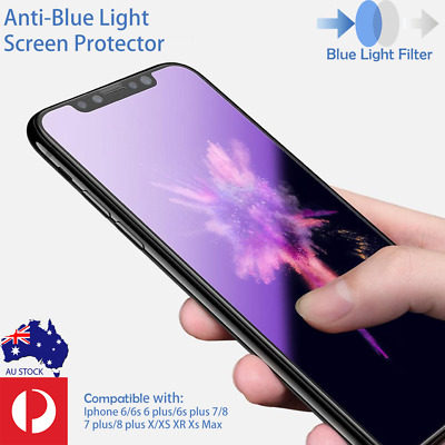 AU3.99 • Buy IPhone 11 X Xs Max XR 7 8 Plus Anti-Blue Light Tempered Glass Screen Protector