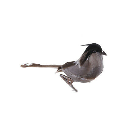 $6.84 • Buy Artificial Feather Fake Birds Magpie Figurines With Clips Garden Tree Decor
