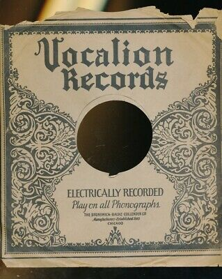 $15 • Buy 78 RPM Company Logo Sleeves-PRE-WAR-VOCALION  Southern Tunes-5199