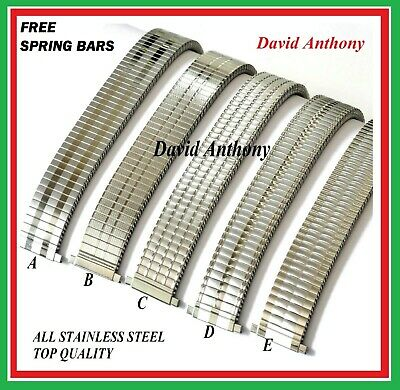 £8.95 • Buy ⭐THE BEST Expanding Expander Watch Bracelet Strap Band,STAINLESS STEEL 5 Designs