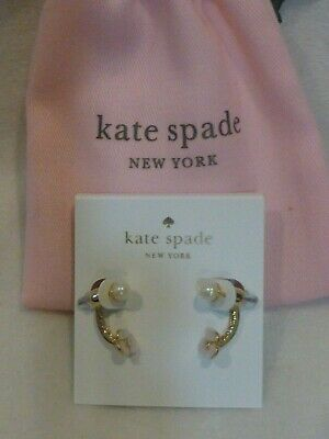 $ CDN41.32 • Buy Kate Spade Disco Pansy Mother Of Pearl Earring Jackets 12K NWT $58 Dust Bag