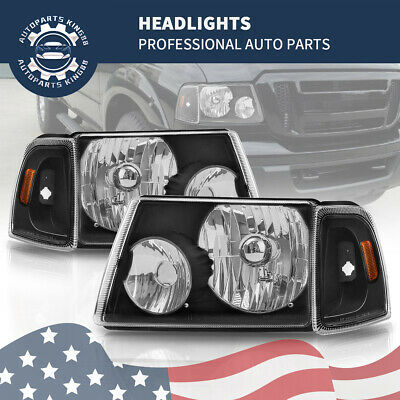 $64.95 • Buy Black Housing Corner Headlights Headlamps For 2001-2011 Ford Ranger Pickup Truck