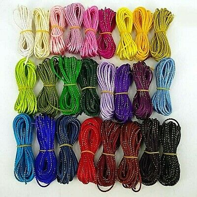 Rattail, Kumihimo ,Braiding, Cord With Glitter, 2 Mm Thickness Macramé Thread 5m • 1.50£