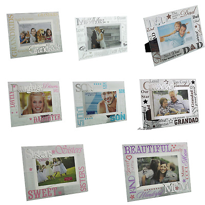 Glass 3D Photo Frame - Mum Dad Auntie Friend Grandad Son Daughter Sisters + More • 7.97£