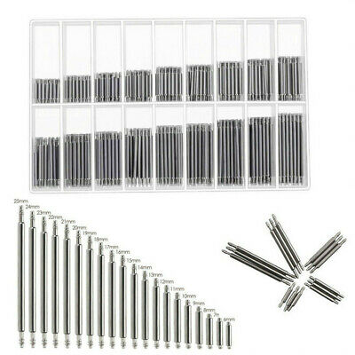 360Pcs Stainless Steel Strap Link Pins Repair Watch Band Spring Bars Tool 8-25mm • 4.25£