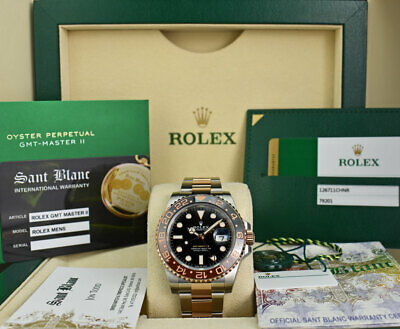 $ CDN27155.81 • Buy ROLEX - 2020 Rose Gold & Stainless GMT Master II Card 126711 CHNR - SANT BLANC