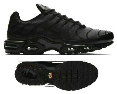 $174.99 • Buy New NIKE Air Max Plus TN Leather Men's Athletic Sneakers Triple Black All Sizes