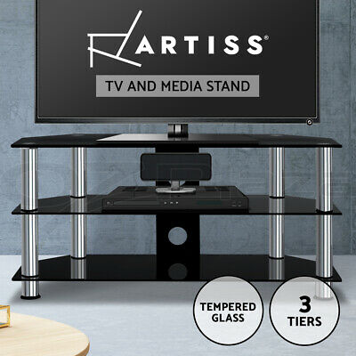AU99.95 • Buy Artiss TV Stand Entertainment Unit HiFi Media CD Shelf Storage Cabinet 3 Tiers