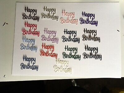 14 Happy Birthday Die Cut Embellishments Card Topper Decoration Scrapbook • 1.30£