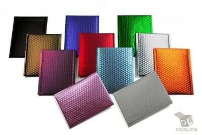 $9.95 • Buy Any Size Color MATTE METALLIC Poly Bubble Mailers Mailing Padded Envelopes
