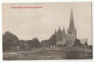 Snettisham Church & Vicarage Norfolk 1905-10 Postcard 143c • 3.99£