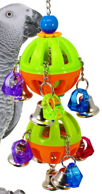 1509 Tuff Bellpull Tower Bonka Bird Toy Parrot Cage Toys Cages African Grey • 18.96£