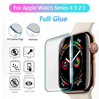 $ CDN1.83 • Buy Full Cover Tempered Glass Screen Protector Film For Apple Watch Series 4 3 2 1