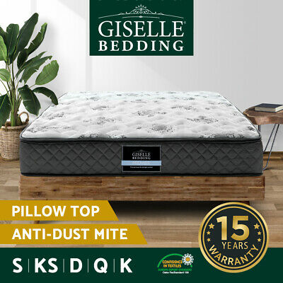 AU185 • Buy Giselle Bedding Mattress QUEEN DOUBLE KING SINGLE Medium Firm Spring Foam