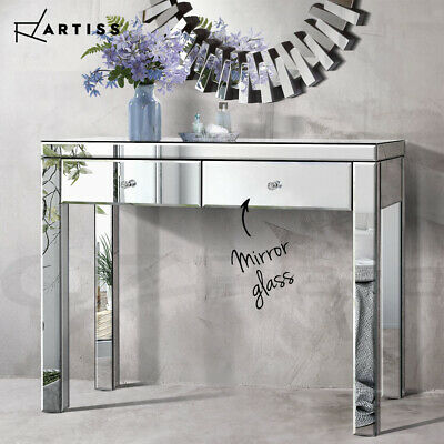 AU199.90 • Buy Artiss Mirrored Furniture Dressing Console Table Hallway Hall Sideboard Drawers
