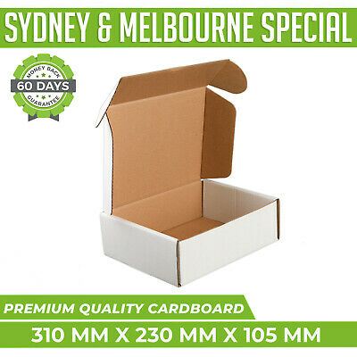 AU146.95 • Buy 200x Mailing Box 310x230x105mm White Diecut Shipping Cardboard Carton A4 B2 BX2