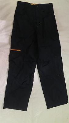 $4.99 • Buy Sportrax Size 12 Navy Blue Long Nylon Warm Up Pants