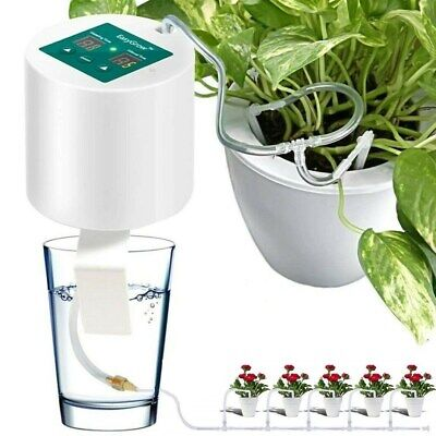 10M Micro Automatic Drip Watering Kit 4 Way Plants Irrigation System W/Timer DIY • 29.96£